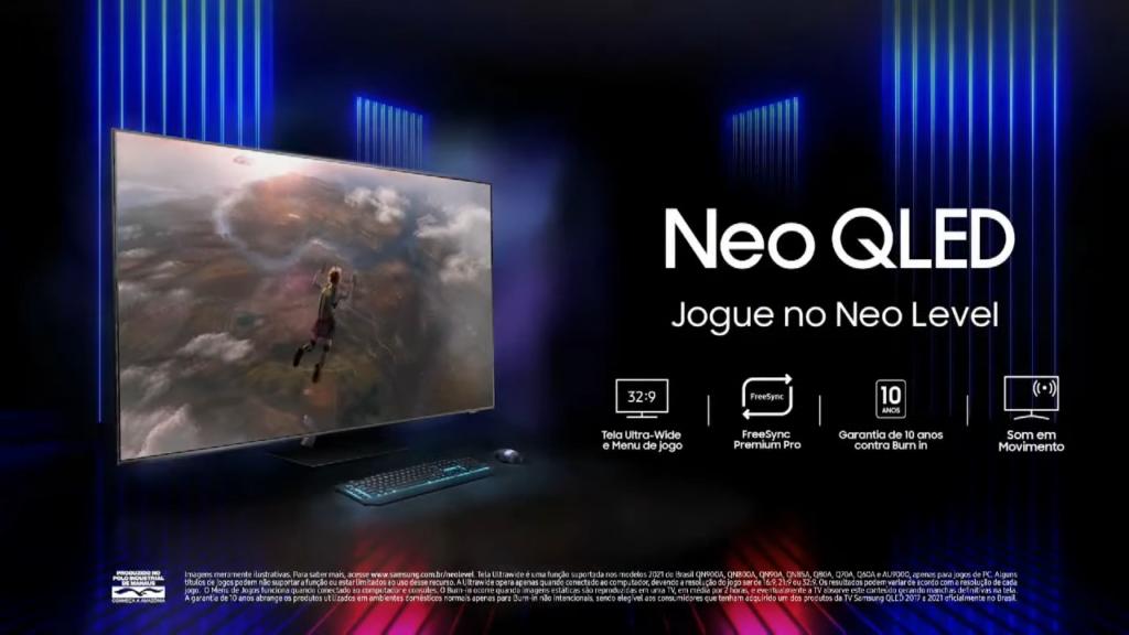 Confira as tvs neo qled, tv gamer da empresa