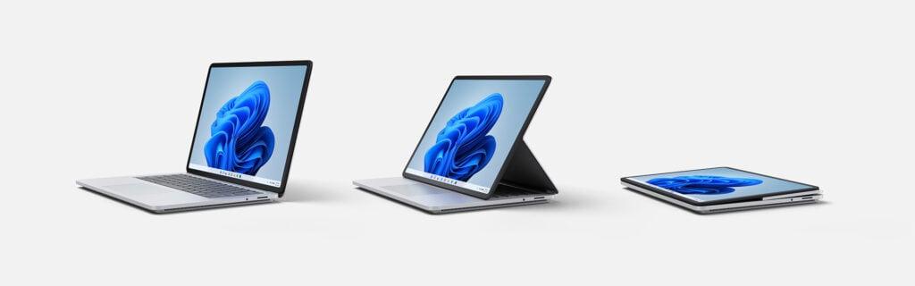 Em evento da microsoft, surface laptop studio foi anunciado sendo o laptop mais versátil do mundo