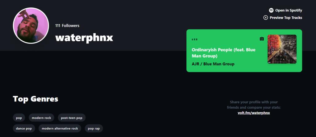Captura de tela do site volt. Fm