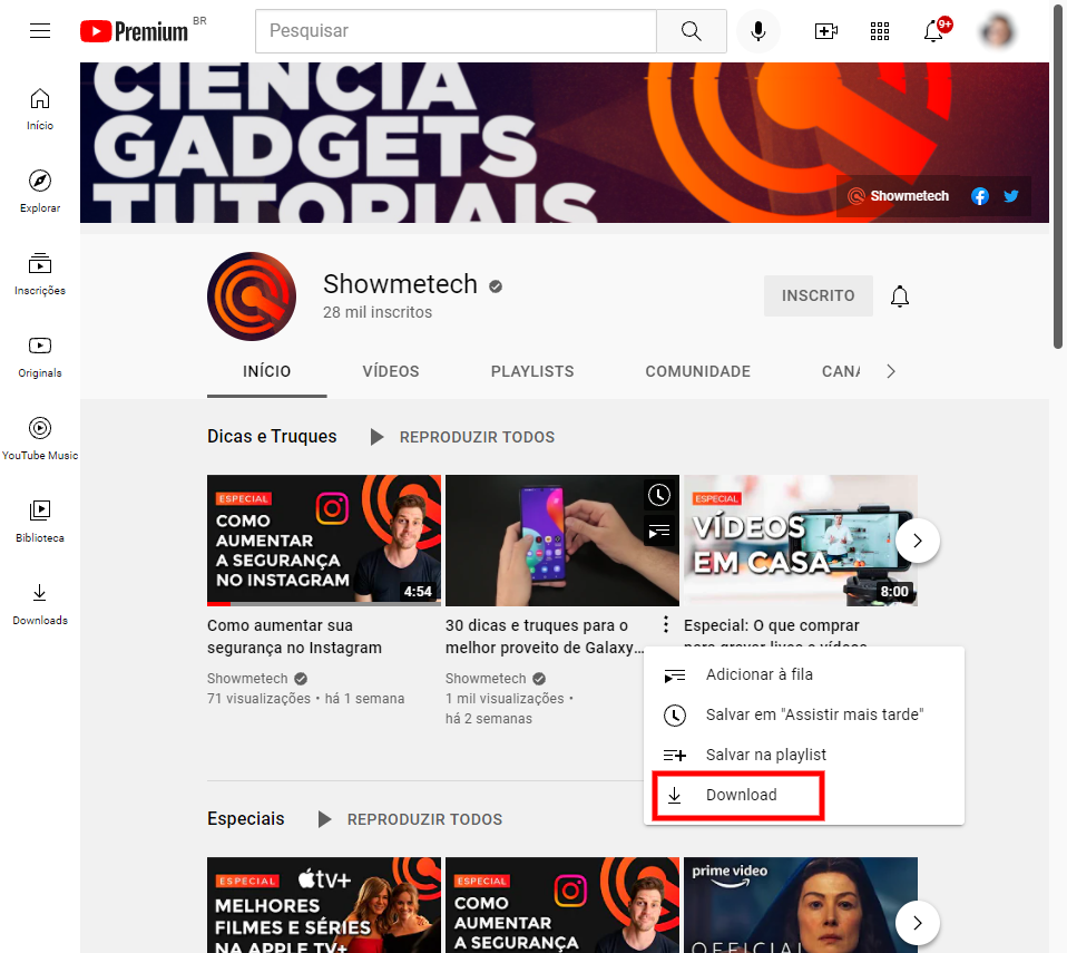 Como fazer download de vídeos do youtube