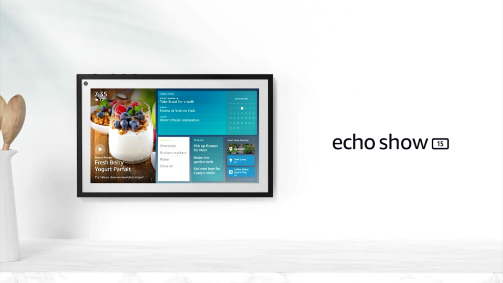 Echo show 15 apresentado no evento de novos produtos da amazon