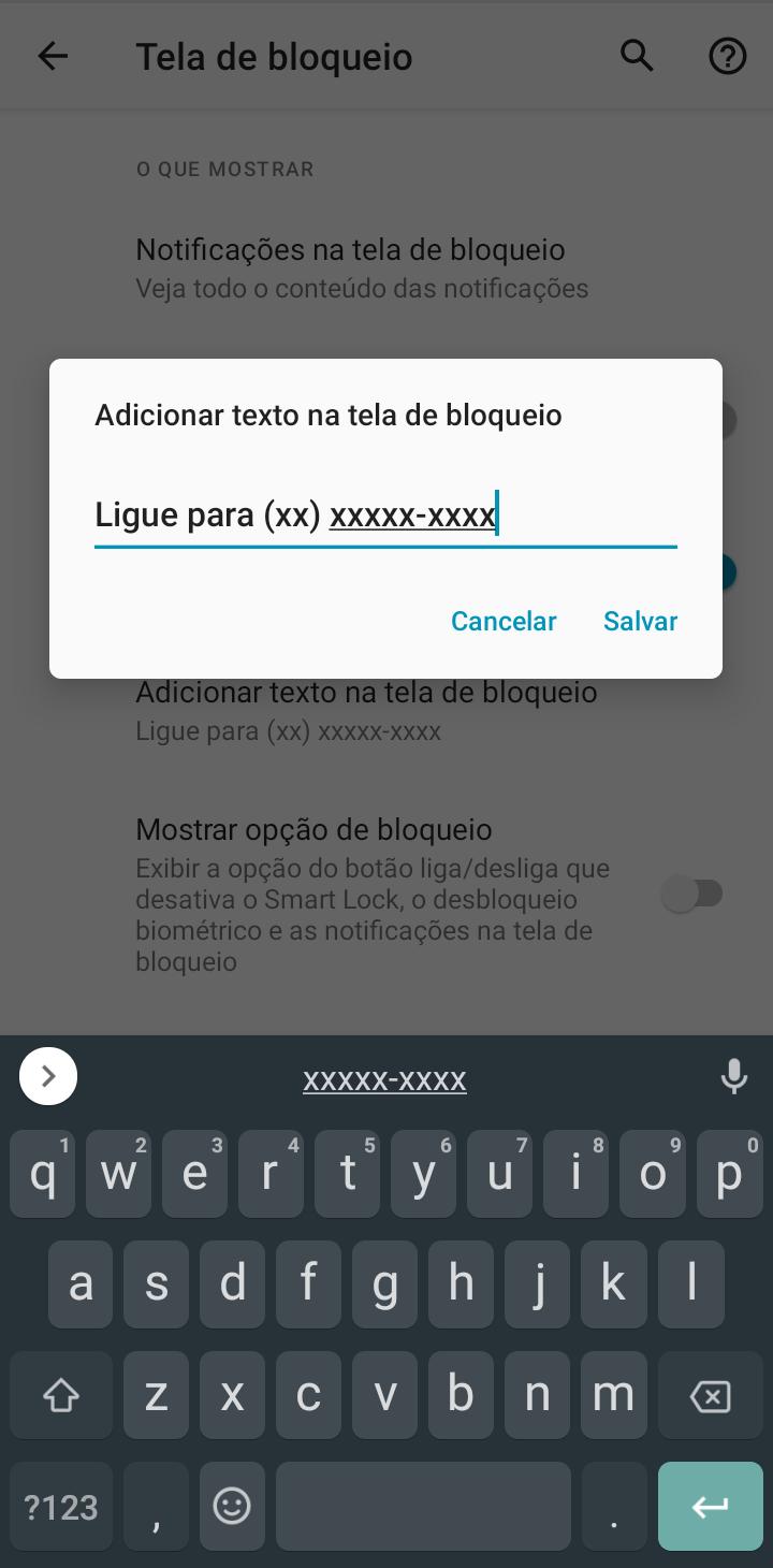 Deixe uma mensagem na tela bloqueada - dicas e truques que melhoram qualquer smartphone android