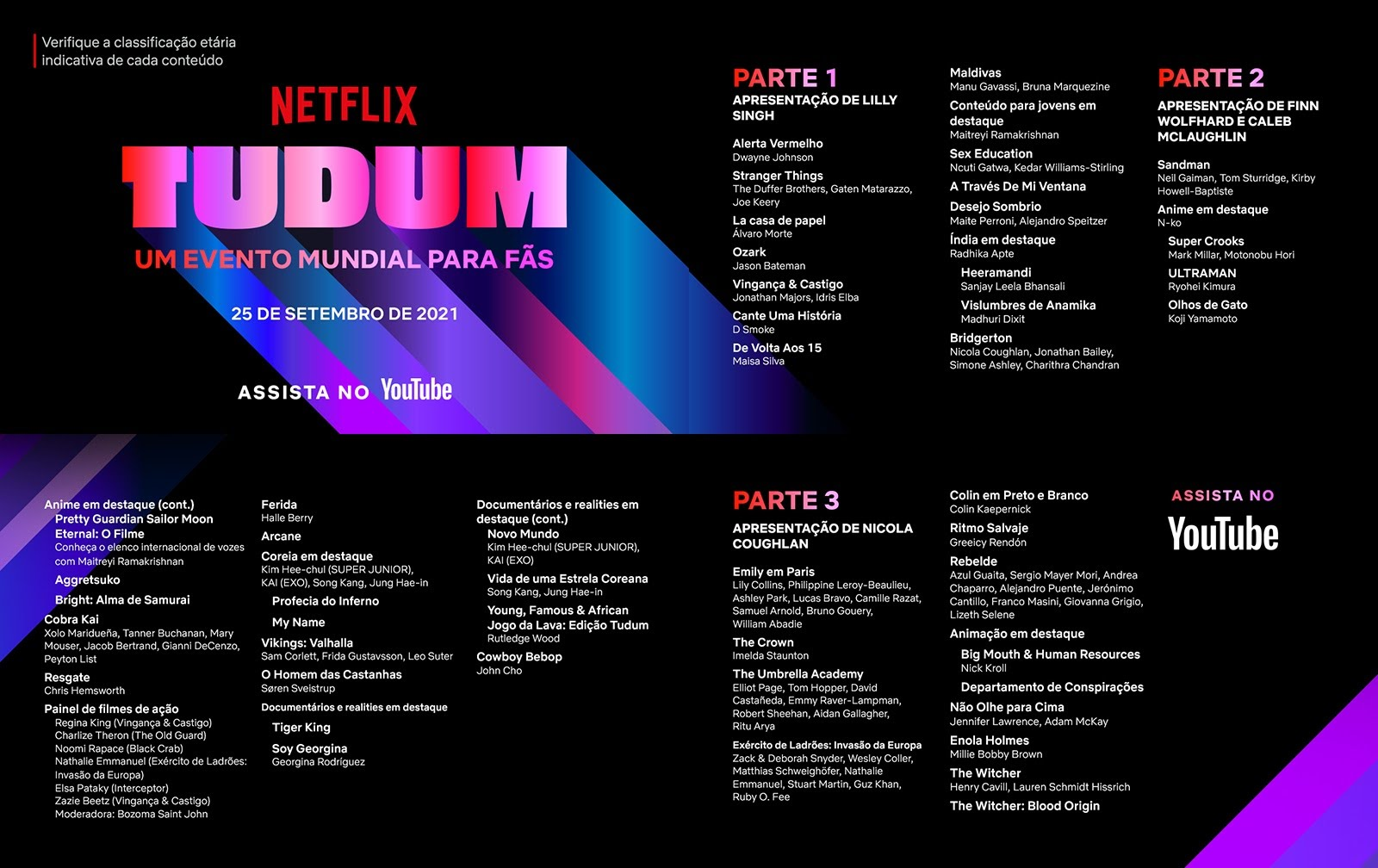 Teaser de divulgação do evento tudum netflix 2021
