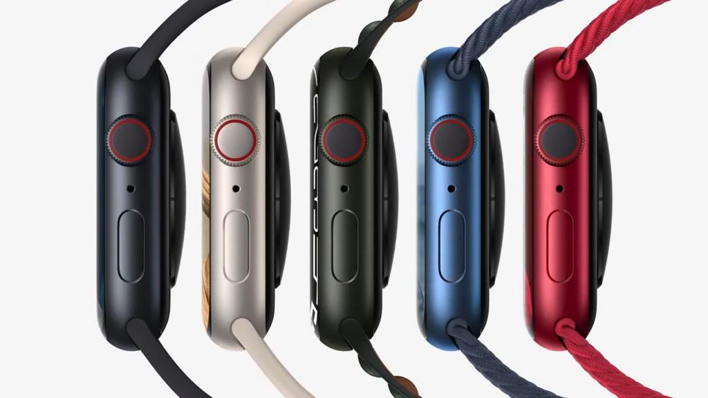 Novas cores disponíveis para o apple watch series 7