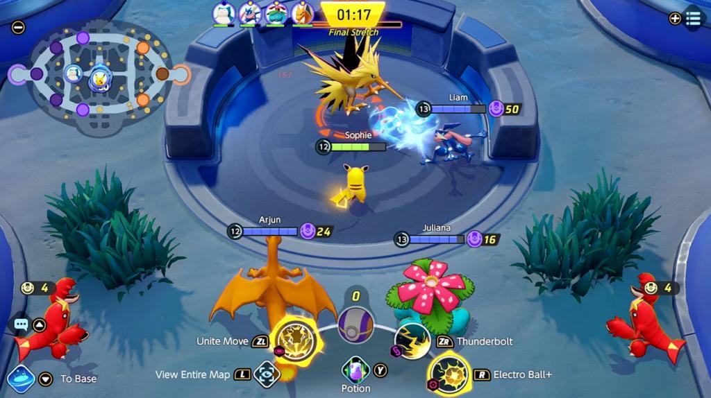 Como jogar pokémon unite: enfrentando zapdos