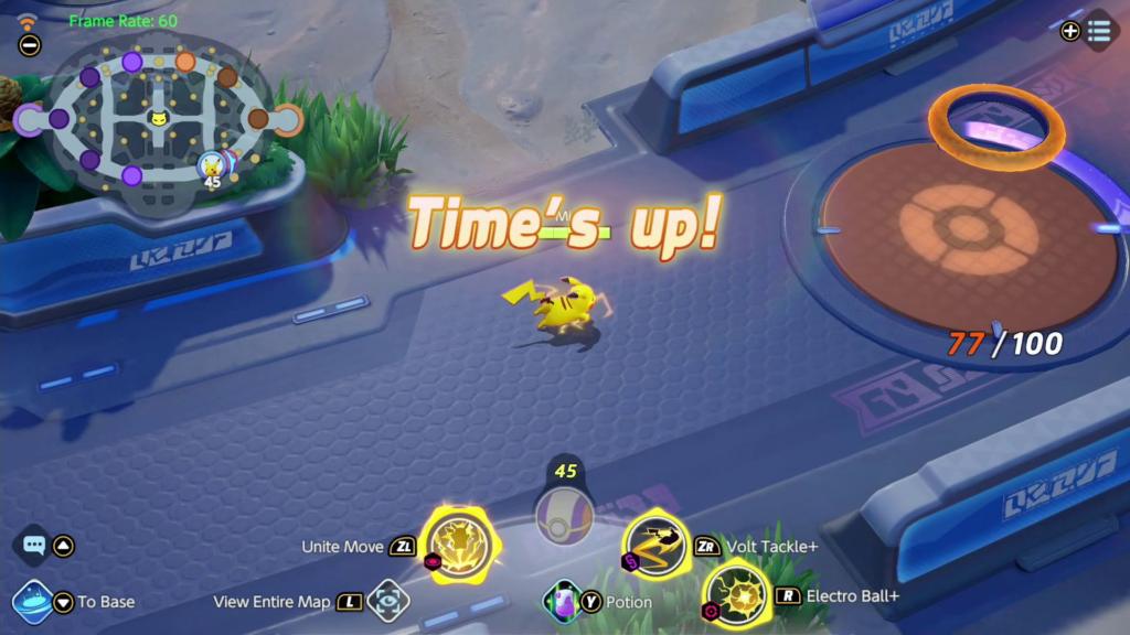 Como jogar pokémon unite: no centro da cela, o número 45 indica quantos aeos energy o jogador possui