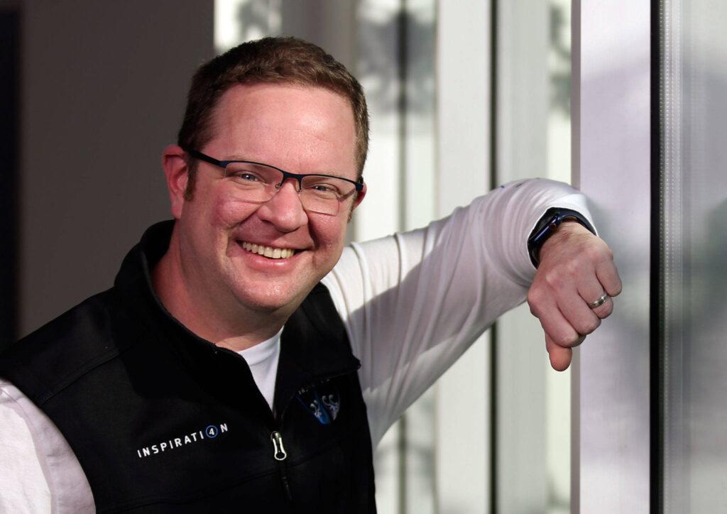 Chris sembroski, que participou da missão inspiration4