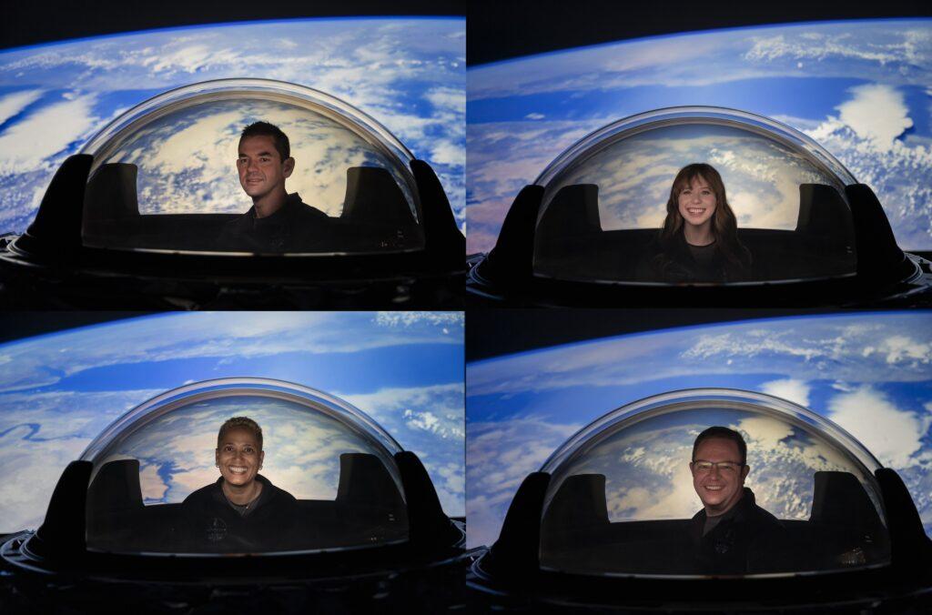 Tripulação da missão espacial sem astronautas