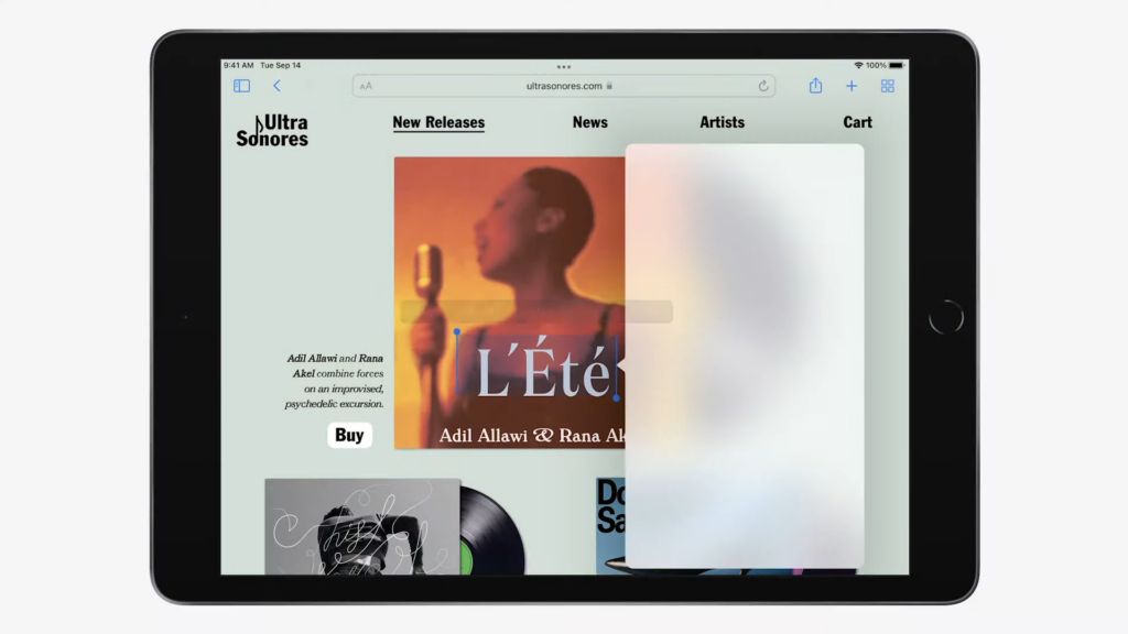 Design do novo ipad, como mostrado no keynote da apple