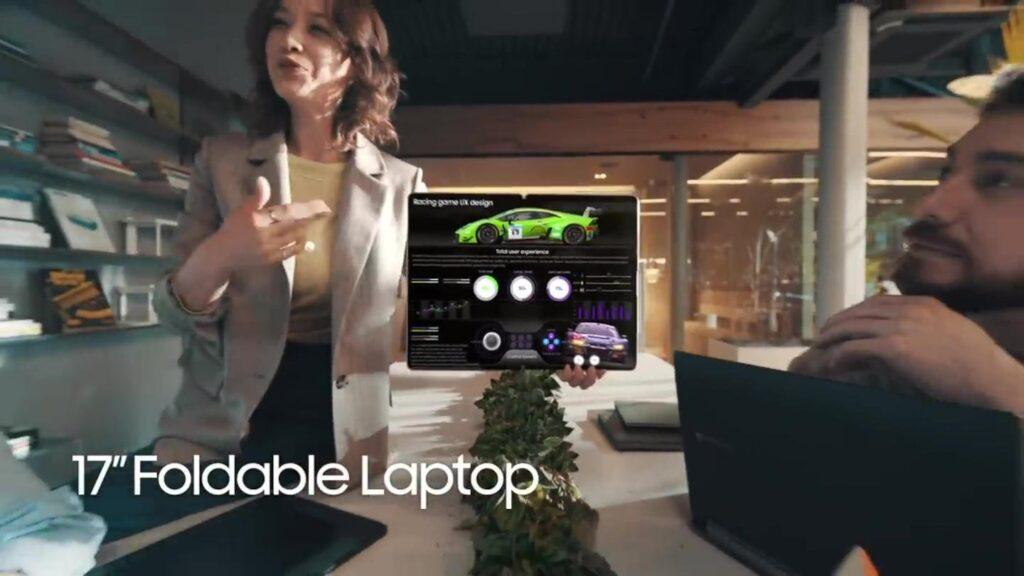 Vazamento da samsung aponta que novo galaxy book fold é um laptop com tela dobrável