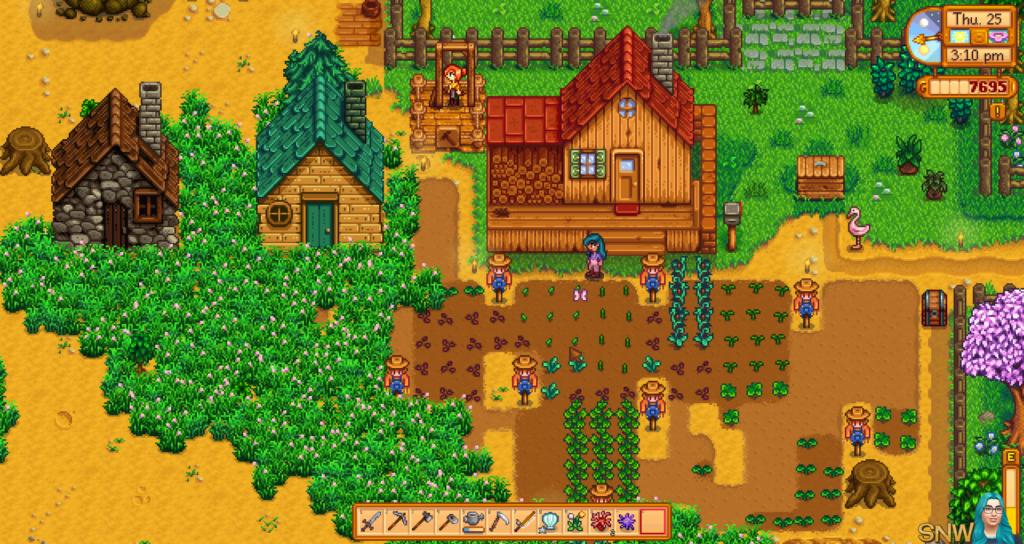 Cuide da sua própria fazenda e explore as possibilidades de morar no campo em stardew valley