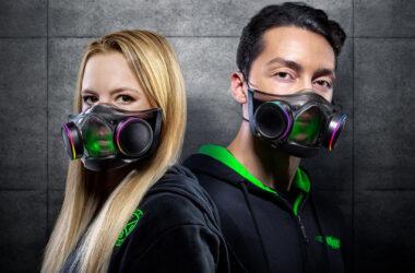 Máscara zenphyr apresentada durante a razercon 2021