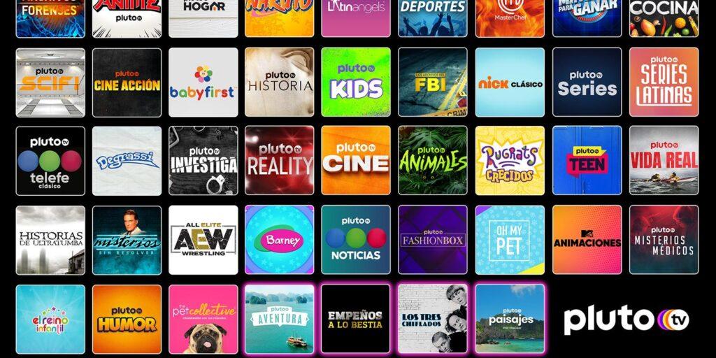 Canais pluto tv