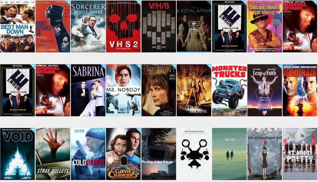 Pôsteres de filmes em sites gratuitos