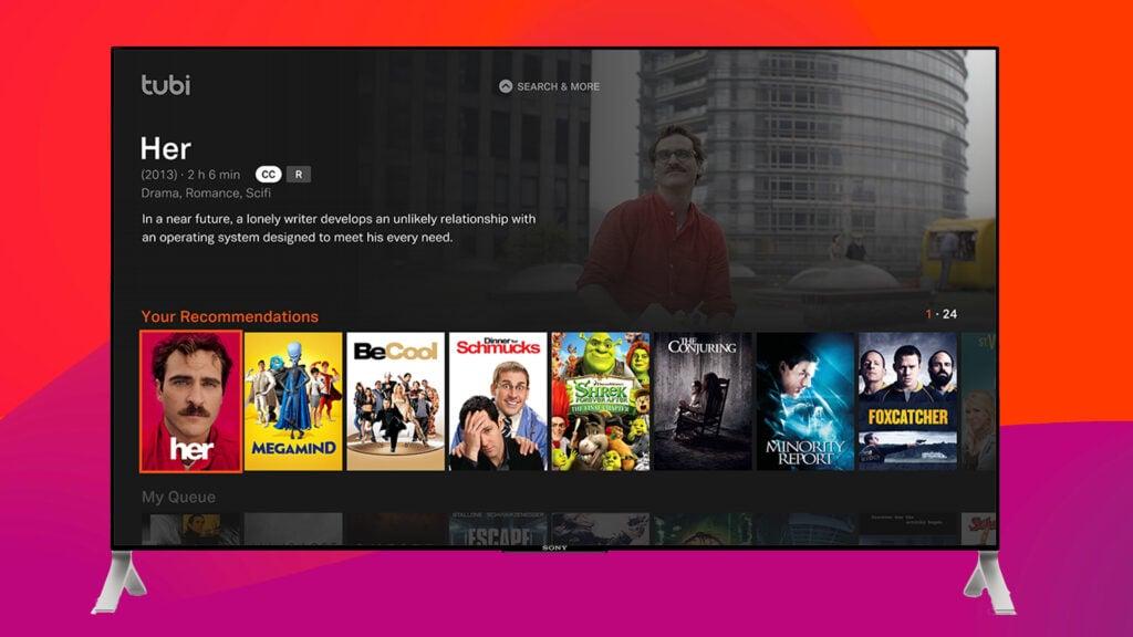 Tubi tv em uma smart tv