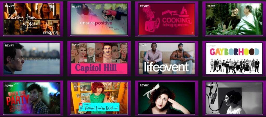 Revry como opção para assistir filmes online grátis