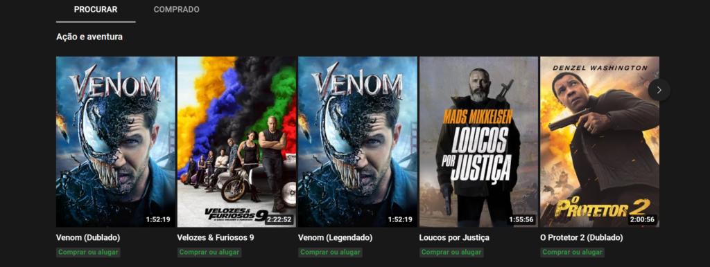 Youtube como opção de assistir filmes online grátis