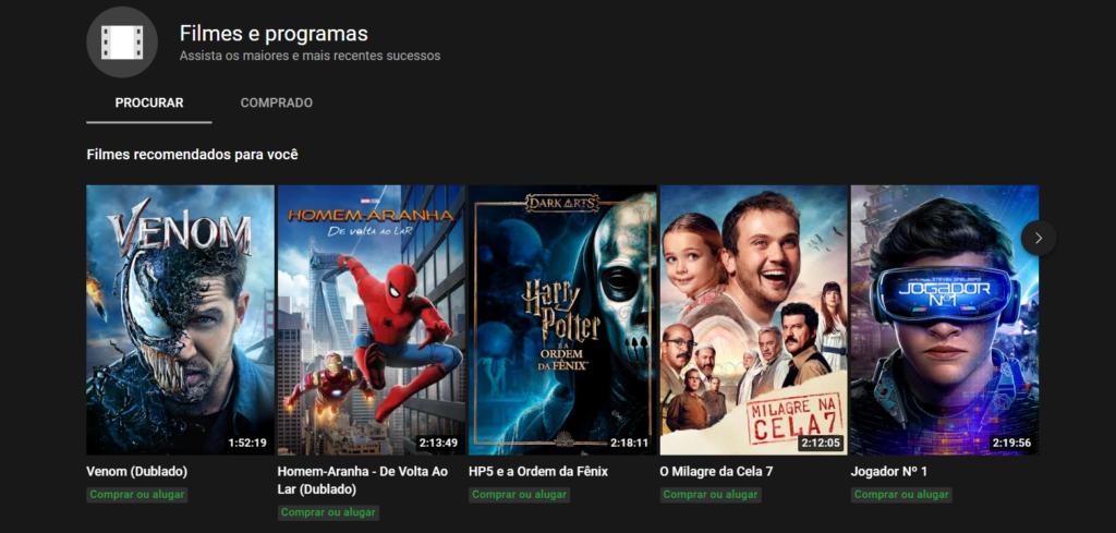 Youtube filmes
