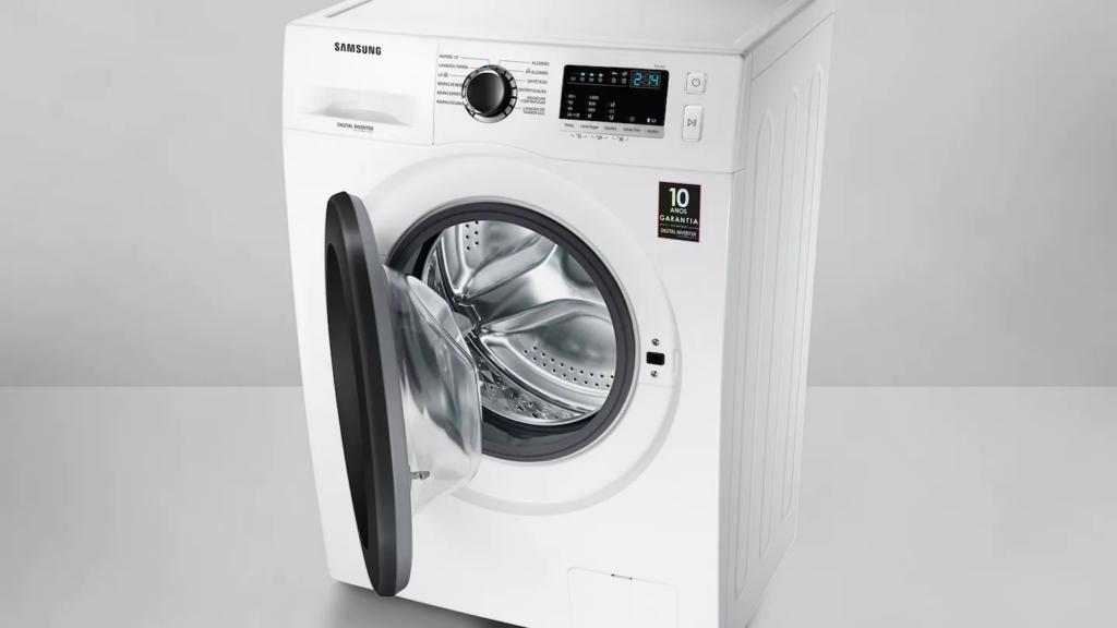 A lavadora de roupas samsung ww4000 tem capacidade para 11kg de roupas