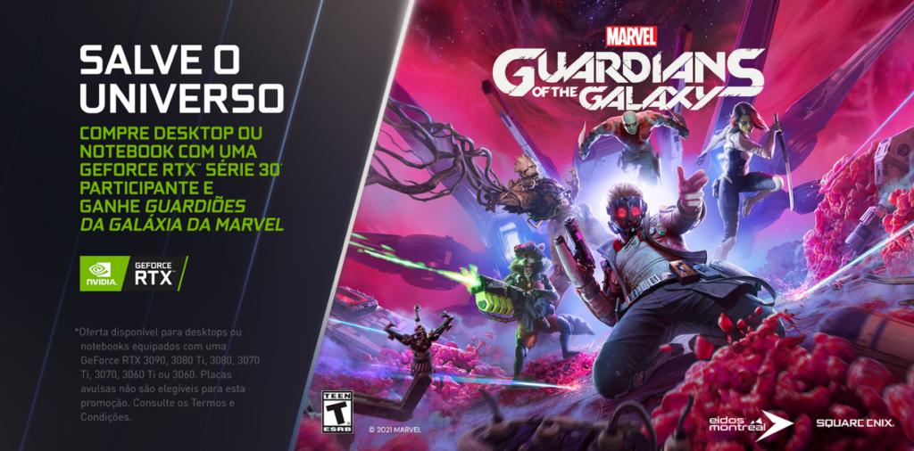 Promoção da nvidia: compre um pc com placa rtx e ganhe marvel's guardians of the galaxy