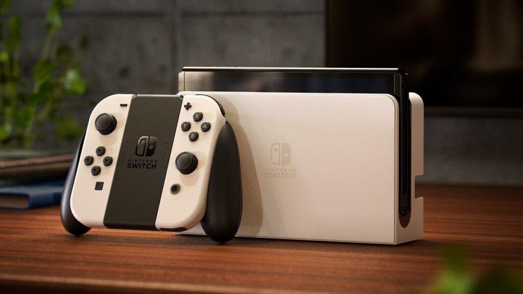 Nintendo switch oled com nova dock