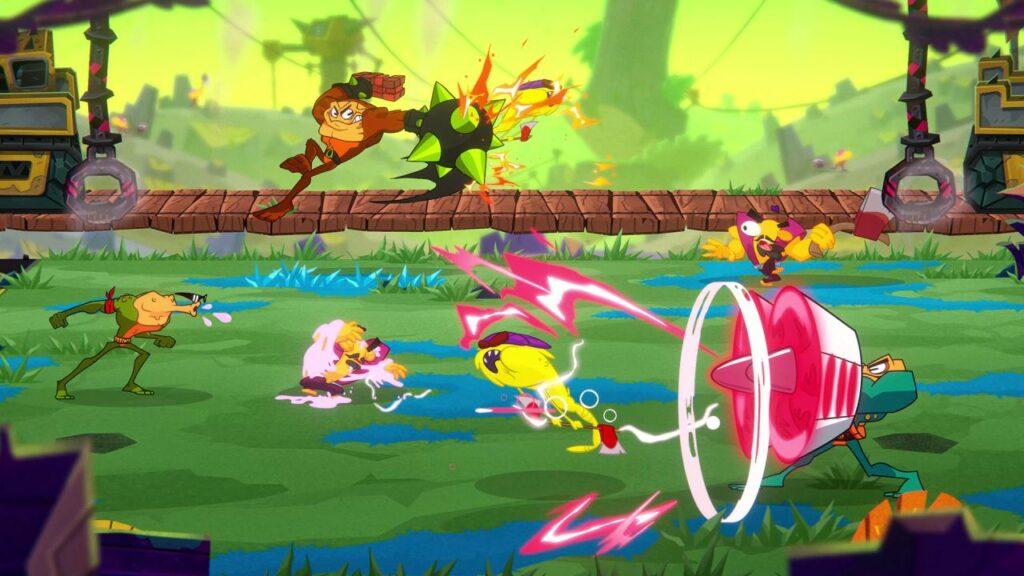 Caos e animação dignas de desenhos animados permeiam battletoads