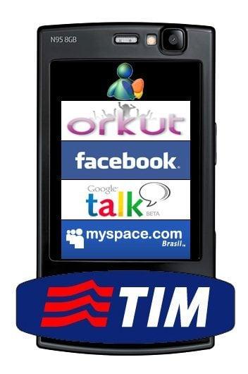 TIM orkut facebook myspace msn