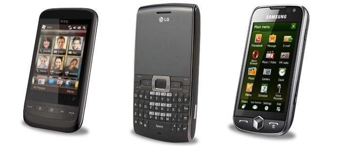 Samsung omnia ii - htc touch 2 - windows phone
