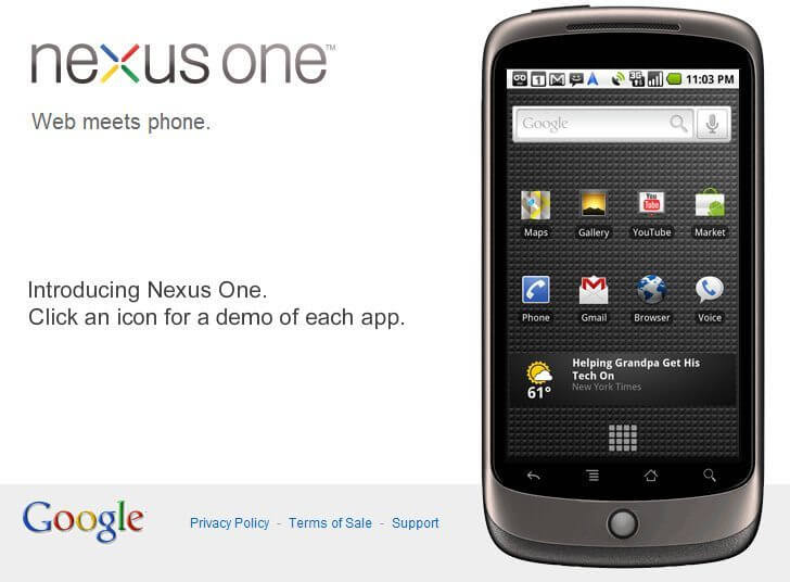 Nexus One Google Phone - Google lança o celular Nexus One