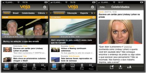 Novo aplicativo: Revista Veja para iPhones e iPads