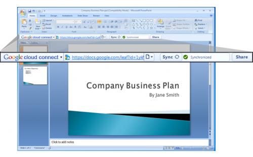 cloud connect 01 500x311 - Google Docs se integra ao Office finalmente