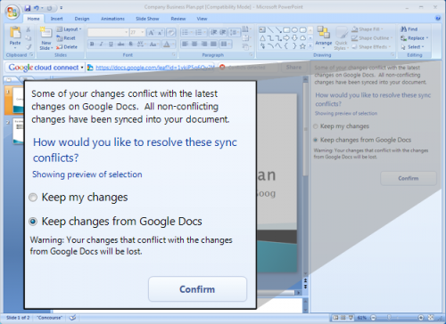 cloud connect 02 500x364 - Google Docs se integra ao Office finalmente