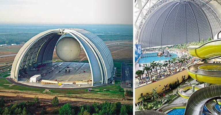 massssiveairplanehanger - Conheça a maior Floresta Tropical Indoor do Mundo