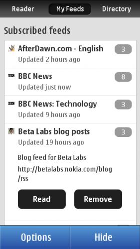 Nokia Reader: leitor RSS para smartphones Symbian