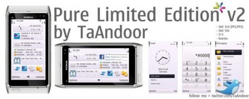 Tema Pure Limited Edition v2 para smartphones Nokia (Symbian)