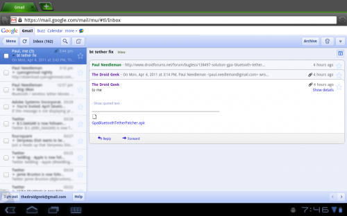 Dica: como ver sites para iPad no Motorola Xoom