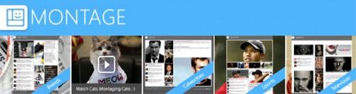 Microsoft montage: a nova ferramenta da empresa para a web. Com o montage, a nova ferramenta da microsoft, é possível criar e partilhar um site (ou blog) em segundos, baseado em conteúdo coletado instantaneamente pela web, tudo de forma automática. Basta pensar num tema ou assunto, digitá-lo, e aguardar, pois a ferramenta se encarrega de todo o resto. O resultado é o que você vê abaixo: