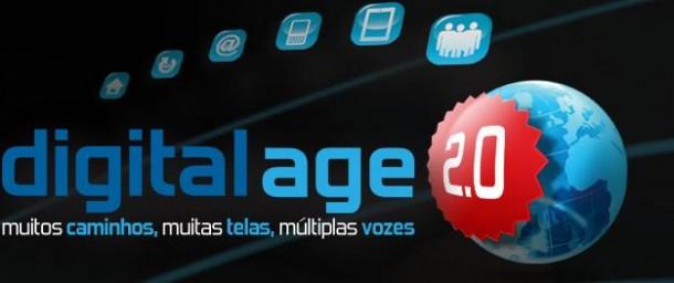 Quer participar do digital age 2. 0?. Digital age 2. 0 é um evento que ocorrerá durante os dias 28 e 29 de setembro, onde mais de 1,2 mil conferencistas e diversos palestrantes nacionais e internacionais debaterão temas como inovações digitais, melhores práticas, informações de mercado e estudos de casos. O digital age 2. 0 promete trazer além de conteúdo para o desenvolvimento de estratégias digitais, um público seleto que propiciará excelentes oportunidades de networking...