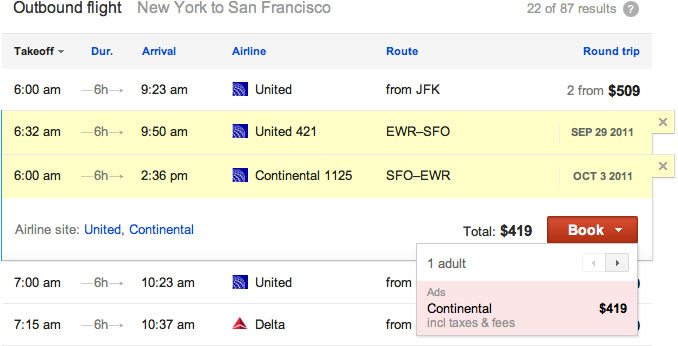 google flight search - Flight Search, a nova pesquisa do Google especializada em vôos