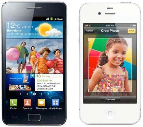 Comparativo: novo iphone 4s vs. Samsung galaxy sii. Com o anúncio do iphone 4s, muita gente começa a se perguntar: será que o novo smartphone da apple é melhor do que o atual aparelho da samsung, o galaxy s ii?