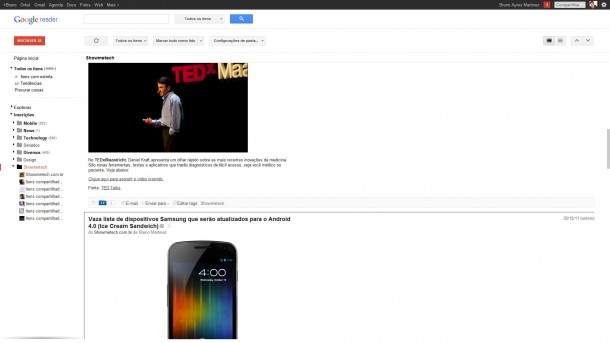 new novo google reader 610x343 - Google Reader ganha novo visual