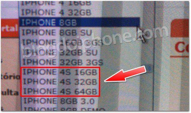 4sbr - iPhone 4S aparece no inventário de operadora brasileira