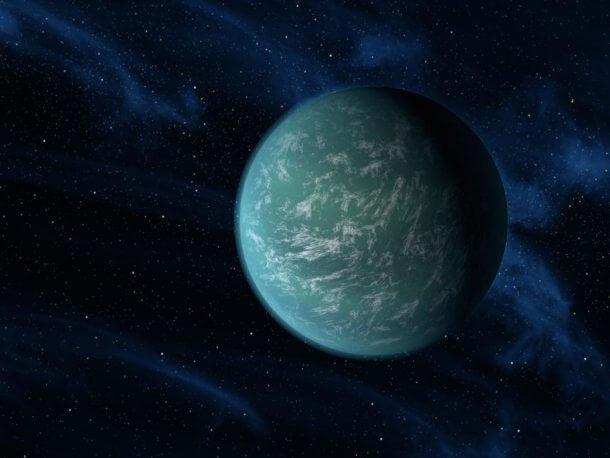 Cientistas descobrem planeta irmão da terra. A nasa anunciou esta semana a descoberta de um planeta fora de nosso sistema solar que se assemelha muito com a terra. Conhecido como kepler-22b, é o primeiro localizado na zona habitável de seu sistema solar, significando que pode existir água em estado líquido em sua superfície, requisito este essencial para o surgimento da vida como conhecemos. Ele é duas vezes e meia maior que a terra, e se localiza a 600 anos-luz de distância.