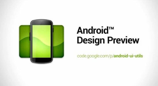 Teste seu aplicativo com o Android Design Preview