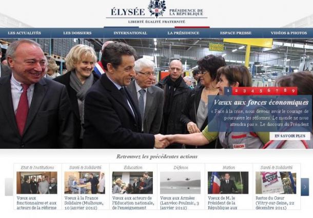 Captura de Tela 2012 01 21 às 16.00.03 610x425 - Anonymous ataca site da presidência francesa