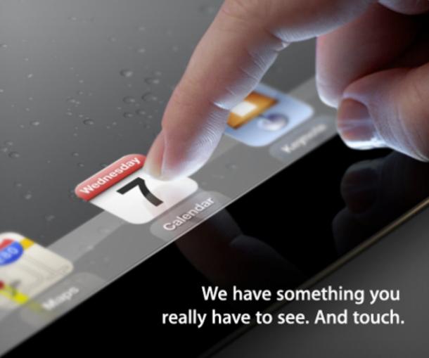 Ipad 3: o que podemos esperar. Está marcado para o próximo dia 7 de março o evento de lançamento do novo ipad da apple. Sendo assim, para animar os interessados na terceira geração deste tablet, montamos abaixo uma lista com os rumores publicados na internet que tem mais chance de se tornarem realidade: