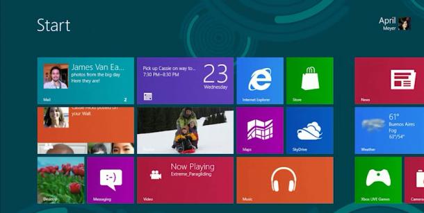 Reprodução - Windows 8