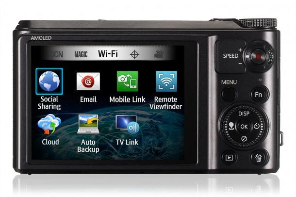 br EC WB850FBDBBR 003 Back 610x406 - Review: Samsung Smart Camera WB850F com conexão WiFi, Picasa e Facebook integrados