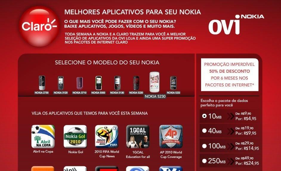 nokia claro - Claro e Nokia firmam parceria para a compra de aplicativos