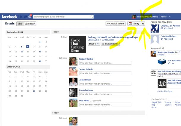 """Acabe com os """"eventos sugeridos"""" do facebook. Dica rápida e bem simples: para acabar com aquela chatisse de """"eventos  sugeridos"""" do facebook, siga as instruções abaixo..."""